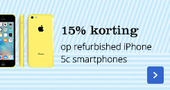5% korting | op refurbished iPhone 5c smartphones