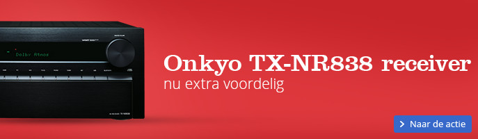 Onkyo TX-NR838 receiver nu extra voordelig