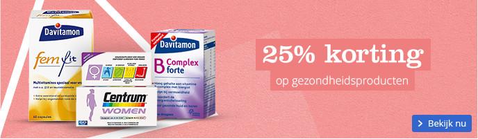 25% korting op gezondheidsproducten