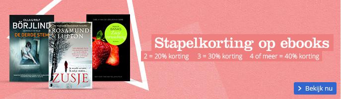 Stapelkorting op ebooks 2 = 20% korting 3 = 30% korting 4 of meer = 40% korting