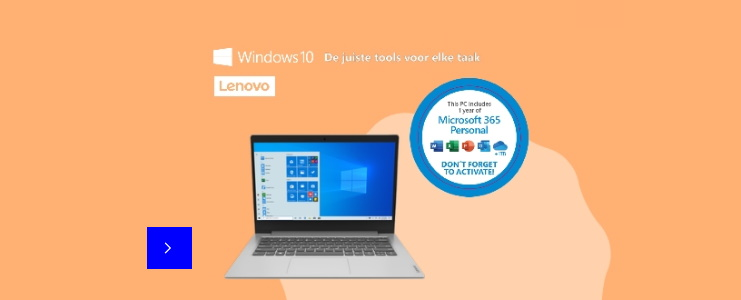 "Lenovo Slim-1 14"" laptop nu 249,- met Select"
