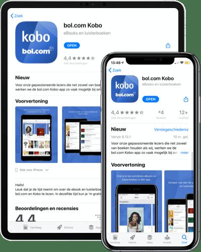 Download de bol.com Kobo app in de App Store of Google Play Store
